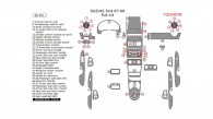Suzuki SX4 2007, 2008, 2009, Full Interior Kit, 56 Pcs.