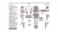 Suzuki SX4 2010, 2011, 2012, 2013, Without Navigation System (Without Center Speaker), Full Interior Kit, 68 Pcs.