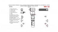 Chevrolet Tracker 1999, 2000, 2001, 2002, 2003, 2004, Suzuki Grand Vitara/XL-7 1999-2002, Suzuki Vitara 1999-2004, Automatic, 4 Door, Center Console W/o Power Outlet, Full Interior Kit, 18 Pcs.