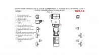 Chevrolet Tracker 1999, 2000, 2001, 2002, 2003, 2004, Suzuki Grand Vitara/XL-7 1999-2002, Suzuki Vitara 1999-2004, Automatic, 4 Door, Center Console W/o Power Outlet, Basic Interior Kit, 17 Pcs.