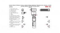 Chevrolet Tracker 1999, 2000, 2001, 2002, 2003, 2004, Suzuki Grand Vitara/XL-7 1999-2002, Suzuki Vitara 1999-2004, Manual, 4 Door, Center Console W/o Power Outlet, Basic Interior Kit, 19 Pcs.