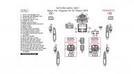 Saturn Aura 2007, Basic Interior Kit, 34 Pcs.