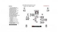 Saturn Outlook 2007, 2008, 2009, 2010, Basic Interior Kit, 35 Pcs., Match OEM