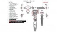 Scion FR-S 2013, 2014, 2015, Basic Interior Kit, 46 Pcs.