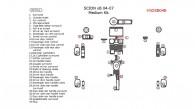 Scion xB 2004, 2005, 2006, 2007, Medium Interior Kit, 32 Pcs.