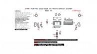 Smart ForTwo 2011, 2012, 2013, 2014, 2015, With Navigation System, Basic Interior Kit, 27 Pcs.