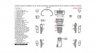 Subaru Legacy/Outback 2005-2006, With Automatic Transmission, With Digital Climate Control, Full Interior Kit, 31 Pcs.