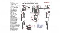 Toyota 4Runner 2003, 2004, 2005, Full Interior Kit, Over Aluminum Interior, 2wd, 41 Pcs.