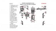 Toyota 4Runner 2003, 2004, 2005, Interior Dash Kit, Doesn't Cover Aluminum Interior, 32 Pcs.