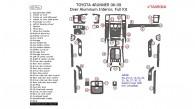 Toyota 4Runner 2006, 2007, 2008, 2009, Full Interior Kit, Over Aluminum Interior, 43 Pcs.