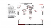 Toyota 4Runner 2014-up, Basic Kit, 44 Pcs.