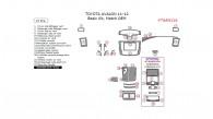 Toyota Avalon 2011-2012, Basic Interior Kit, 27 Pcs., Match OEM