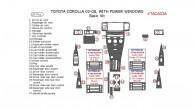 Toyota Corolla 2003, 2004, 2005, 2006, 2007, 2008, Basic Interior Kit, With Power Windows, 27 Pcs.