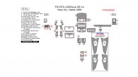 Toyota Corolla 2009, 2010, 2011, Main Interior Kit, 39 Pcs., Match OEM