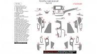 Toyota C-HR 2018-up, Full Interior Kit, 41 Pcs.