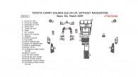 Toyota Camry Solara 2004, 2005, 2006, 2007, 2008, SLE, Convertible, Basic Interior Kit, Without Navigation System, 28 Pcs., Match OEM