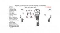 Toyota Camry Solara 2004, 2005, 2006, 2007, 2008, SLE, Convertible, Basic Interior Kit, With Navigation System, 28 Pcs., Match OEM