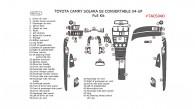 Toyota Camry Solara 2004, 2005, 2006, 2007, 2008, SE, Convertible, Full Interior Kit, 46 Pcs.