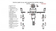 Toyota Camry 2002, 2003, 2004, With Navigation System, Manual, Full Interior Kit, 27 Pcs.,