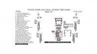 Toyota Camry 2012, 2013, 2014, Without OEM Wood, Basic Interior Kit, 47 Pcs.