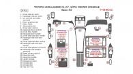 Toyota Highlander 2001, 2002, 2003, 2004, 2005, 2006, 2007, Basic Interior Kit, With Center Console Interior Kit, 24 Pcs.