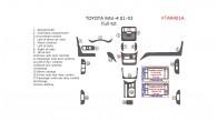 Toyota Rav4 2001, 2002, 2003, Full Interior Kit, 19 Pcs.
