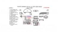 Toyota Sienna 2004, 2005, 2006, 2007, 2008, 2009, 2010, Toyota Sienna XLE 2004-2010, Interior Dash Kit, With OEM Wood, 22 Pcs. Match OEM