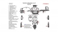 Toyota Sequoia 2001, 2002, 2003, 2004, 2005, 2006, 2007, Full Interior Kit, 36 Pcs.