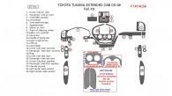 Toyota Tundra 2005-2006, Extended Cab, Full Interior Kit, 25 Pcs.