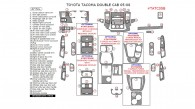 Toyota Tacoma 2005, 2006, 2007, 2008, Interior Dash Kit, Double Cab, 47 Pcs.