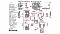 Toyota Tacoma 2009, 2010, 2011, Toyota Tacoma Interior Dash Kit, Regular/Access Cab 2009-2011, 42 Pcs.