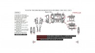 Toyota Tacoma 2012, 2013, 2014, 2015, Basic Interior Kit (Regular/Access/Double Cab), 36 Pcs.