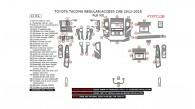 Toyota Tacoma 2012, 2013, 2014, 2015, Full Interior Kit (Regular/Access Cab), 61 Pcs.