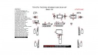 Toyota Tacoma Double Cab 2016, 2017, 2018, Basic Interior Kit, 44 Pcs.