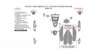 Toyota Yaris 2007, 2008, 2009, 2010, 2011, Sedan, Without Power Package, Basic Interior Kit, 27 Pcs.