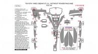 Toyota Yaris 2007, 2008, 2009, 2010, 2011, Sedan, Without Power Package, Full Interior Kit, 61 Pcs.
