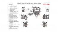Toyota Avalon 1995, 1996, 1997, 1998, 1999, Interior Dash Kit, Bench Seats, Without OEM, 26 Pcs.