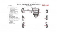 Toyota Avalon 1995, 1996, 1997, 1998, 1999, Interior Dash Kit, Bench Seats, 19 Pcs., Match OEM