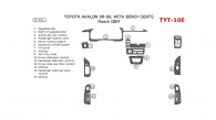 Toyota Avalon 1995, 1996, 1997, 1998, 1999, Interior Dash Kit, Bench Seats, 15 Pcs., Match OEM