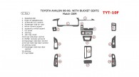 Toyota Avalon 1995, 1996, 1997, 1998, 1999, Interior Dash Kit, Bucket Seats, 17 Pcs., Match OEM