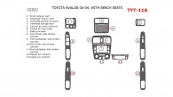 Toyota Avalon 2000, 2001, 2002, 2003, 2004, Interior Dash Kit, Bench Seats, 13 Pcs.