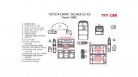 Toyota Camry Solara 1999, 2000, 2001, 2002, 2003, Interior Dash Kit, Match OEM, 18 Pcs.