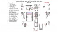 Volvo S40/V50 2008, 2009, 2010, 2011/Volvo C30 2008, 2009, 2010, 2011, 2012, 2013, Full Interior Kit, 41 Pcs.