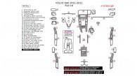 Volvo S60 2011-2012, Full Interior Kit, 44 Pcs.