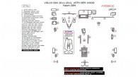 Volvo S60 2011-2012, Interior Dash Kit, With OEM Wood, 37 Pcs., Match OEM