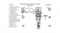 Volvo S80 2004, 2005, 2006, Interior Dash Kit, With CD Player, 24 Pcs., OEM Match