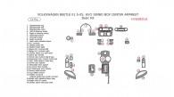 Volkswagen Beetle 2001.5, 2002, 2003, 2004, 2004.5, Without Jumbo Box Center Armrest, Basic Interior Kit, 31 Pcs.