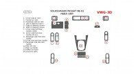 Volkswagen Passat 1998, 1999, 2000, 2001, Interior Dash Kit, Match OEM, 15 Pcs.