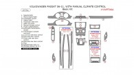 Volkswagen Passat 2006, 2007, 2008, 2009, 2010, 2011, With Manual Climate Control, Basic Interior Kit, 19 Pcs.