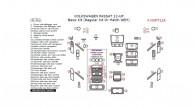 Volkswagen Passat 2012, 2013, 2014, 2015, Basic Interior Kit (Regular Kit Or Match OEM), 41 Pcs.
